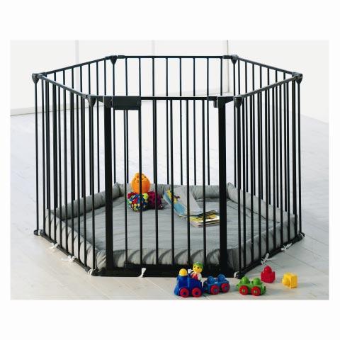 Box - Cancelletto Park-A-Kid 6 lati - Nero [67116-10600-130] by Baby Dan