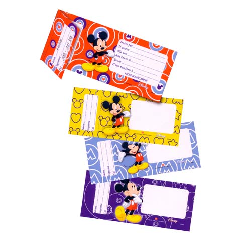 Abbigliamento e idee regalo - Blocchetto 20 inviti per party Mickey [0136443 - 58426] by Dedit