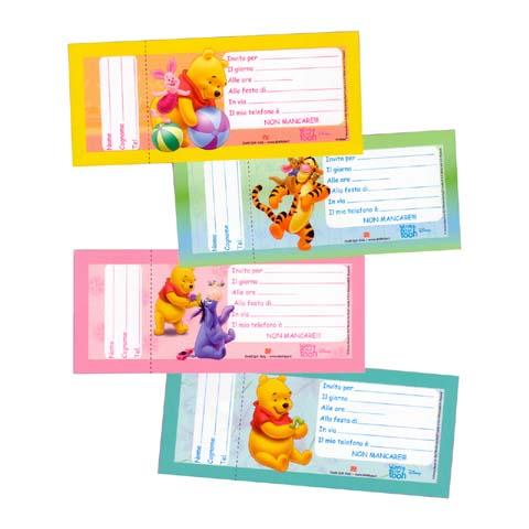 Abbigliamento e idee regalo - Blocchetto 20 inviti per party Winnie[0136443 - 58426] by Dedit