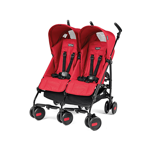 Linea gemellare - Pliko Mini Twin Mod red by Peg Perego
