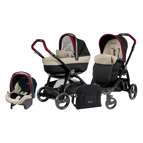 Modulari (DUO e TRIO) - [TRIO] Book Plus Modular 500 Nero-beige by Peg Perego