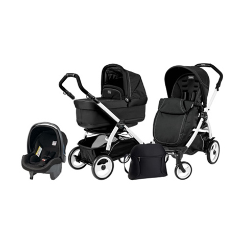 Modulari (DUO e TRIO) - [TRIO] Book 51 con navetta Pop Up Onyx by Peg Perego