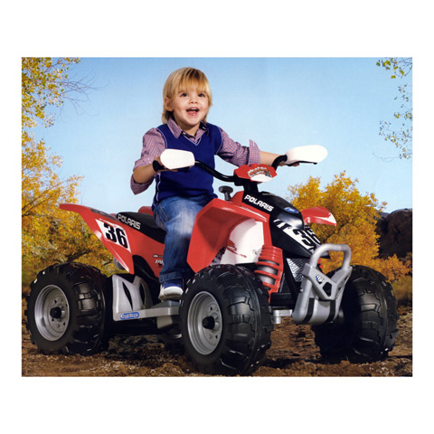 Ride on toy electric quad 12v polaris outlaw or0049 peg perego for Peg perego polaris outlaw