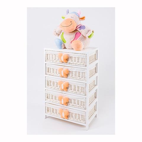 Abbigliamento e idee regalo - [880.34] Lola - Mobile a 5 cassetti Bianco-Arancio by Picci
