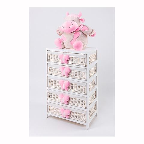 Abbigliamento e idee regalo - [880.34] Lola - Mobile a 5 cassetti Bianco-Rosa by Picci