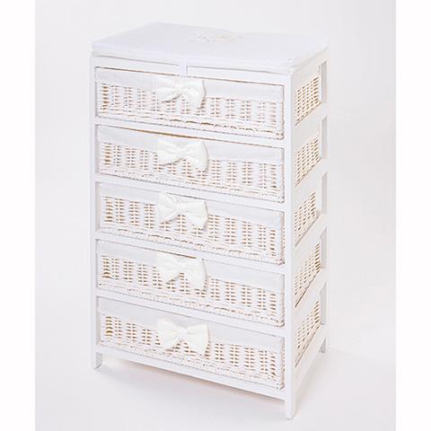 Abbigliamento e idee regalo - [880.61] Coco - Mobile a 5 cassetti Bianco by Picci