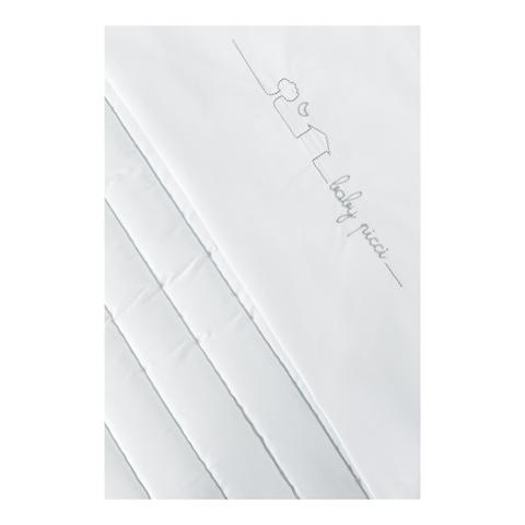 Piumoni - [12.60] Miky - Piumetto letto 3 pz. (misure standard) Bianco V.02 by Picci