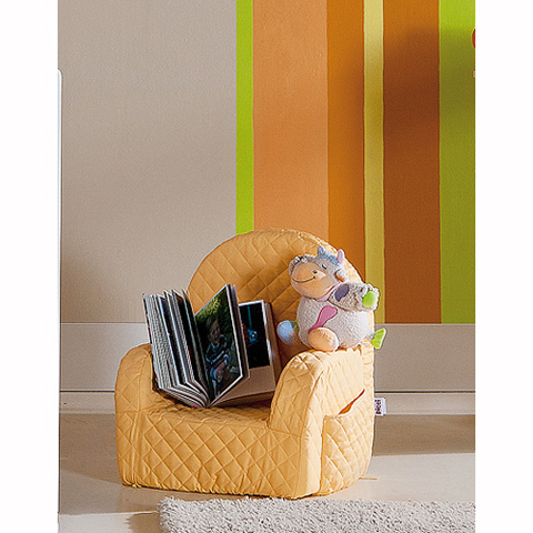 Abbigliamento e idee regalo - [79.34] Lola - Poltroncina con peluches Lola Arancio by Picci