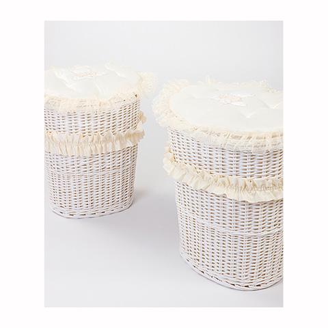 Altri moduli per arredo - [850.52] Sissi - Set 2 portagiochi ovale Bianco-Panna by Picci