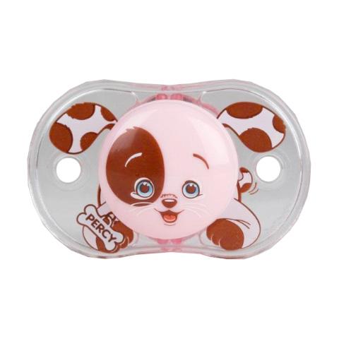 Biberon e succhiotti - Keep-it-Clean - il ciuccio sempre pulito Pink Puppy [PD 0292 - 007PD] by Raz Baby