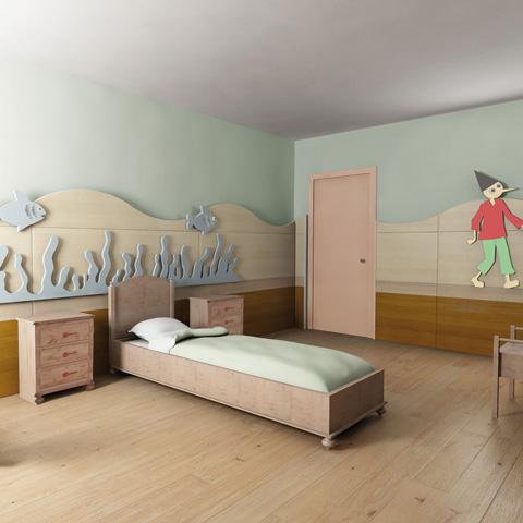 Camerette complete - Cameretta Collezione Pinocchio Traditional [legno massello] Pino by Sogni Fantastici