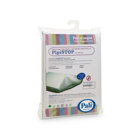 Materassi e linea bianca - Lenzuolino proteggi materasso con angoli per lettino  cm. 64 x 124 by Pali
