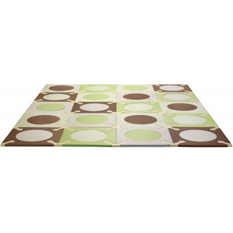 Giocattoli 9+ mesi - Tappeto componibile Play Spots green/brown [245004] by Skip Hop