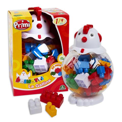 Giocattoli 12+ mesi - Primotti - La Gallina - 50 pezzi CCP22802 by Primi