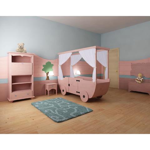 Camerette complete - Cameretta Collezione Principessa Fantasy [legno massello] Rosa by Sogni Fantastici