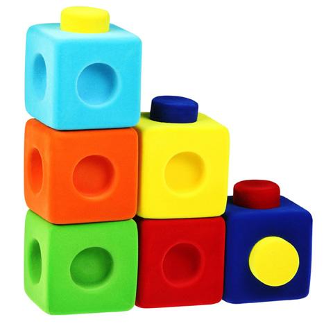 Giocattoli 24+ mesi - Rubbablox - cubi per costruire - set 9 pz. 9 pezzi by Rubbabu