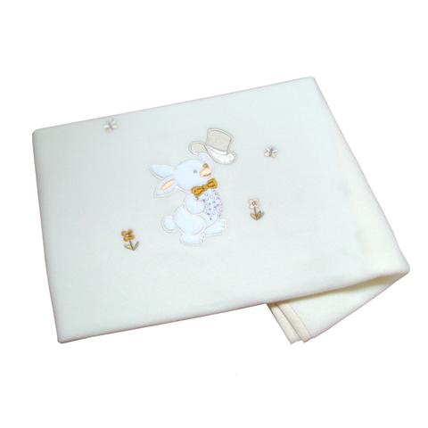 Coperte, lenzuolini e paracolpi - Coperta in pile per carrozzina Mr.Rabbit Glitter V6 beige  [03.32] by Ruggeri
