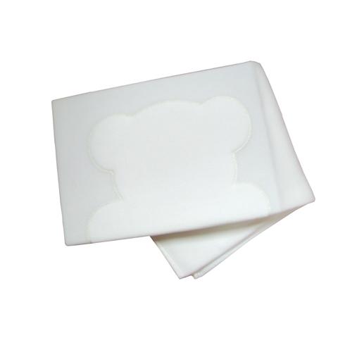 Coperte, lenzuolini e paracolpi - Coperta in pile per lettino Orsetti Glitter Bianco  [05.33] by Ruggeri