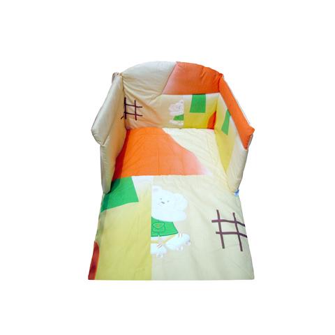 Piumoni - Happy - piumone 4 pezzi ricamato 08.112 giallo by Ruggeri