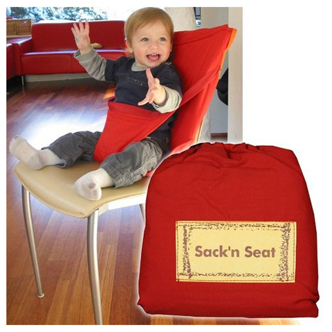 Accessori per la pappa - Sack and Seat - imbracatura imbottita da sedia SNS602 rosso by Sack and Seat