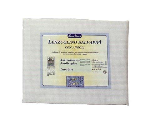Materassi e linea bianca - Lenzuolino salvapipì c/angoli cm. 130 x 60 per lettino cm. 130 x 60 by Fior di Nanna