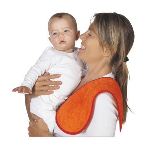 Accessori per la mamma - Sbavetta - salvaspalla ocra - arancio by Terra e Albero
