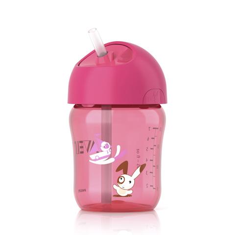 Allattamento e svezzamento - Tazza con beccuccio decorata 12+ mesi - rosa 260 ml. - SCF760/00 by Avent