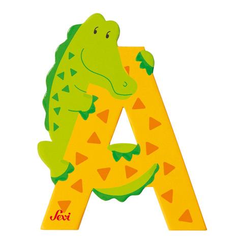 Accessori per la cameretta - Lettera A - alfabeto Animali A - alligatore [81601] by Sevi