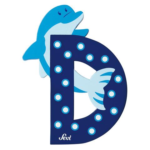 Accessori per la cameretta - Lettera D - alfabeto Animali D - delfino [81604] by Sevi