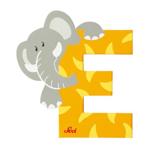 Accessori per la cameretta - Lettera E - alfabeto Animali E - elefante [81605] by Sevi