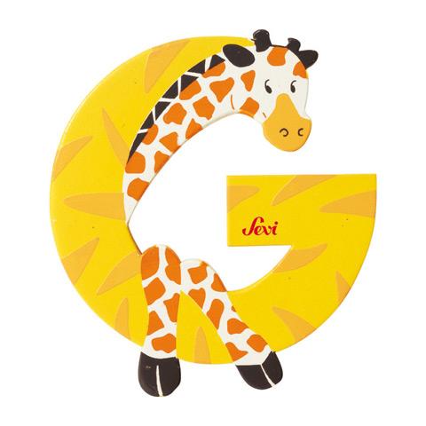 Accessori per la cameretta - Lettera G - alfabeto Animali G - giraffa [81607] by Sevi