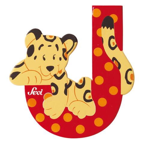 Accessori per la cameretta - Lettera J - alfabeto Animali J - jaguar [81610] by Sevi