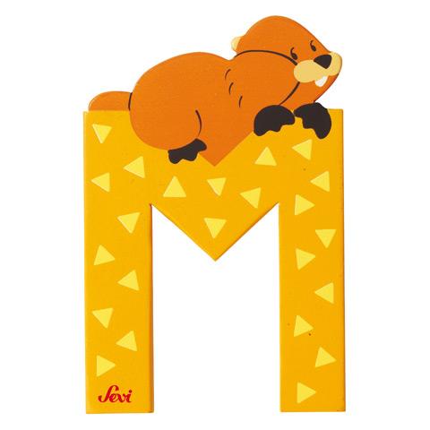 Accessori per la cameretta - Lettera M - alfabeto Animali M - marmotta [81613] by Sevi