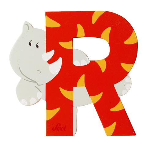 Accessori per la cameretta - Lettera R - alfabeto Animali R - rinoceronte [81618] by Sevi