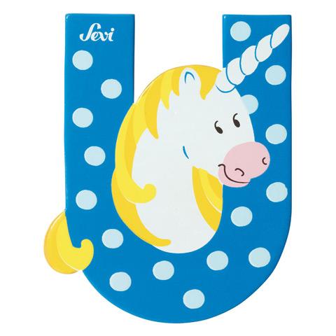 Accessori per la cameretta - Lettera U - alfabeto Animali U - unicorno [81621] by Sevi