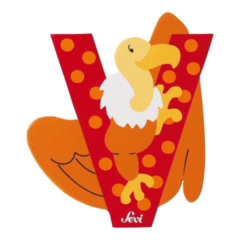 Accessori per la cameretta - Lettera V - alfabeto Animali V - vulture (avvoltoio) [81622] by Sevi