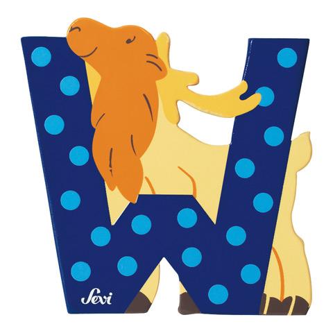 Accessori per la cameretta - Lettera W - alfabeto Animali W - wapiti (alce) [81623] by Sevi