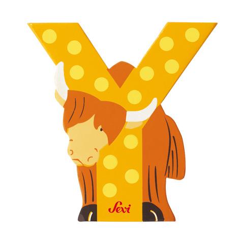 Accessori per la cameretta - Lettera Y - alfabeto Animali Y - yak [81625] by Sevi