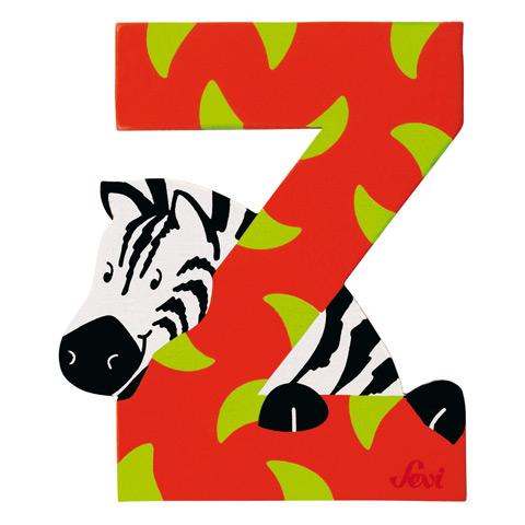 Accessori per la cameretta - Lettera Z - alfabeto Animali Z - zebra [81626] by Sevi