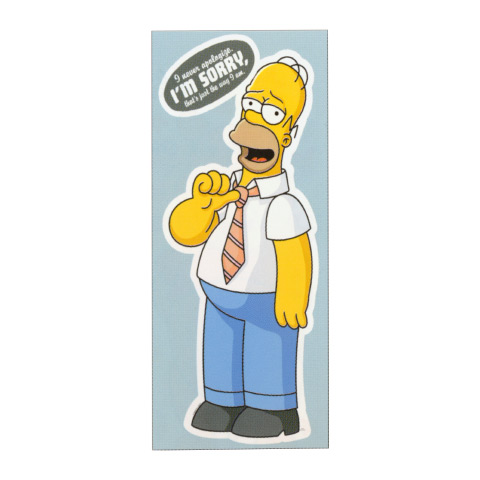 Complementi e decori - Deco Figure Stickers - Large EV 40164 - Simpson by Decofun