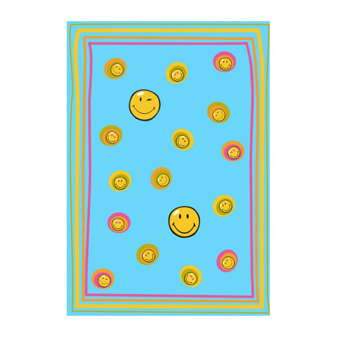 Tappeti per camerette - Smiley 8901 Blue cm. 140 x 200 by Sitap