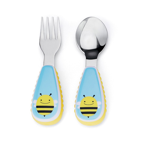 Stoviglie decorate - Fork and Spoon ape [252351] by Skip Hop