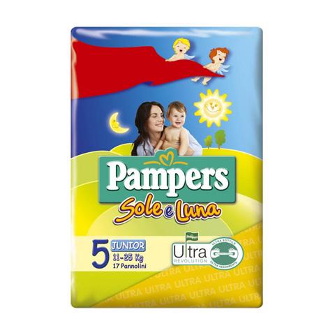 Il cambio (pannolini, etc.) - Linea Sole e Luna - Junior - 11-25 Kg. [18 pannolini] 18 pannolini by Pampers