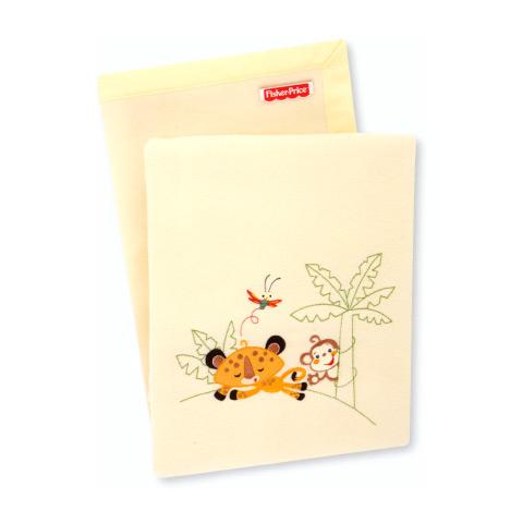 Coperte, lenzuolini e paracolpi - Coperta ricamata culla/carrozzina Fisher Price Story III 80478.11 - 999 giallo by Somma