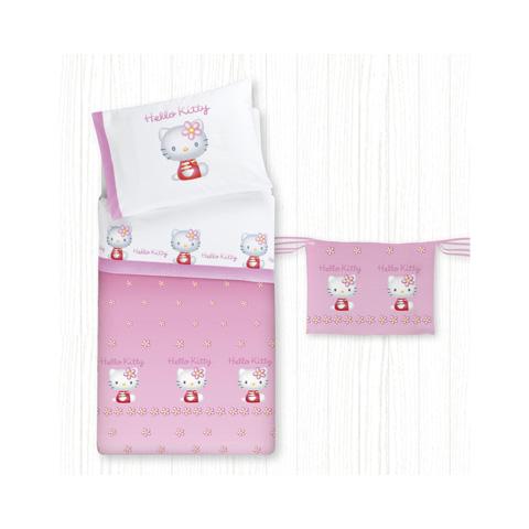 Piumoni - Parure sfilabile per lettino - Hello Kitty - 3D 030 rosa by Somma