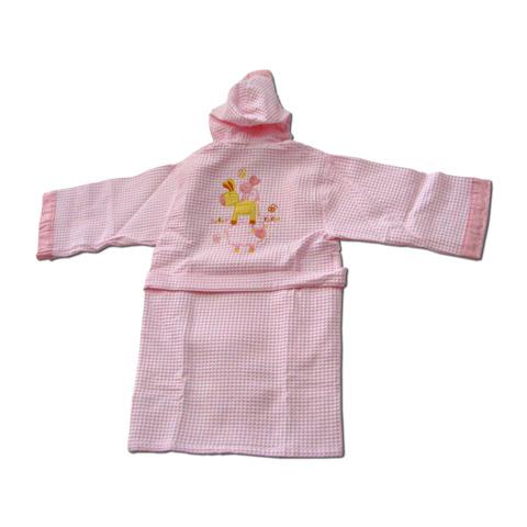 Abbigliamento e idee regalo - Accappatoio Arcobaleno Mix in piquet M - statura cm. 98/104 - rosa [80447] by Somma