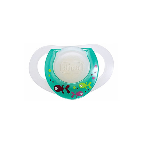 Biberon e succhiotti - Succhietto Physioring in silicone [0+ mesi] 0+ mesi LUMINESCENTI [1783] by Chicco