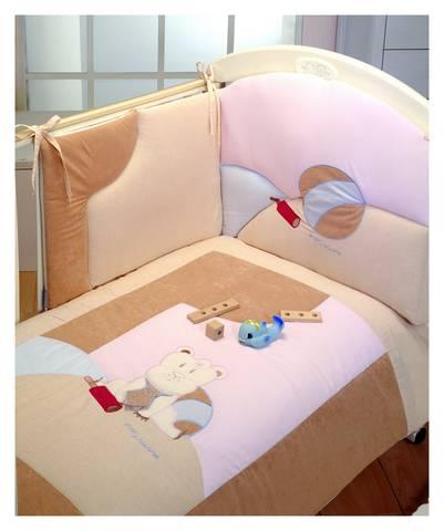 Piumoni - Piumone Sweet Hippo - completo 3 pezzi sfilabile Pastello by Fior di Nanna