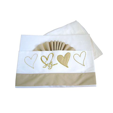 Sweet Years Completo 3 pz. lenz. lettino ricamato - Oro