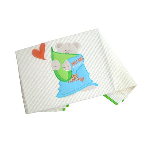 Coperte, lenzuolini e paracolpi - Coperta in piquet per carrozzina Sweet Verde  [22.21] by Sweet Years